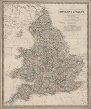 Europe and British Isles Map By W. & A.K. Johnston