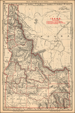 Rocky Mountains Map By William Rand / Andrew McNally