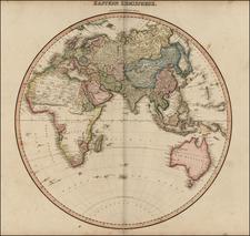 World and Eastern Hemisphere Map By John Pinkerton
