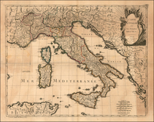Italy and Balearic Islands Map By Felix Delamarche