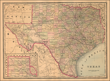 Texas Map By William Bradley