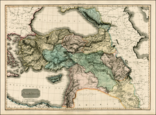 Turkey, Middle East and Turkey & Asia Minor Map By John Pinkerton
