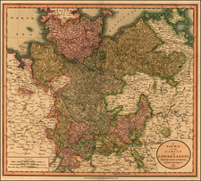 Europe, Baltic Countries and Germany Map By John Cary