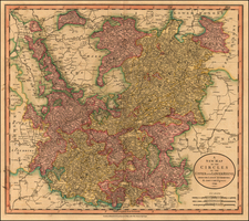 Europe and Germany Map By John Cary