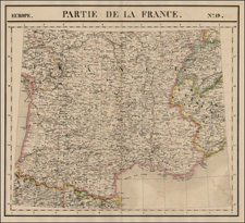 Europe and France Map By Philippe Marie Vandermaelen