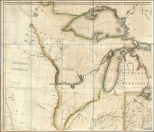 Midwest, Plains and Canada Map By Pierre Antoine Tardieu
