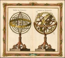 World, Curiosities and Celestial Maps Map By Louis Brion de la Tour