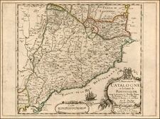 Spain Map By Pierre Du Val