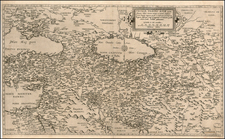 Russia, Ukraine, Mediterranean, Central Asia & Caucasus, Middle East, Holy Land, Turkey & Asia Minor, Russia in Asia and Balearic Islands Map By Cornelis de Jode