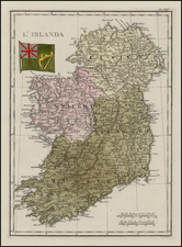 Ireland Map By Francesco Costantino Marmocchi
