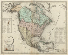 North America Map By H. Selves