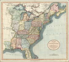 United States Map By John Cary