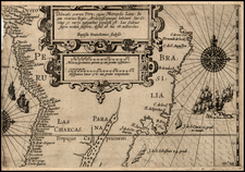 South America and Brazil Map By Nicholas Van Geelkercken / Baptista Van Doetecum