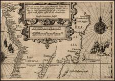 South America and Brazil Map By Nicholas Van Geelkercken / Baptista Van Deutecum