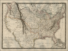 United States Map By Adrien-Hubert Brué