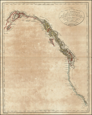 Alaska, Canada and California Map By Pierre Antoine Tardieu