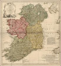 Ireland Map By Thomas Jefferys