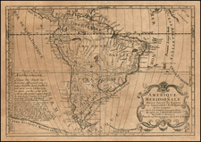 South America Map By Pierre Moullart Sanson