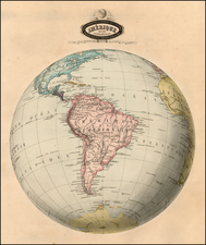 Polar Maps and South America Map By F.A. Garnier