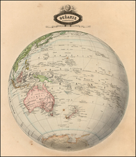 Polar Maps and Oceania Map By F.A. Garnier