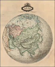 Polar Maps and Asia Map By F.A. Garnier