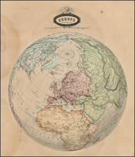 Polar Maps and Europe Map By F.A. Garnier