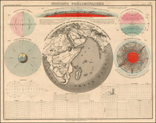 World, Eastern Hemisphere, Curiosities and Celestial Maps Map By J. Andriveau-Goujon