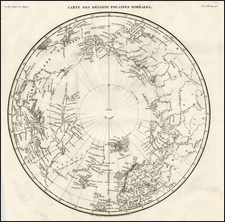 Polar Maps, Alaska, Scandinavia and Russia in Asia Map By G Lemaitre