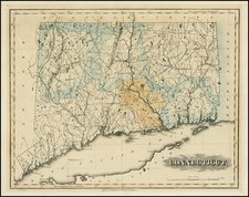 Connecticut Map By Fielding Lucas Jr.