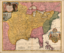 United States, South, Midwest and Plains Map By Johann Baptist Homann