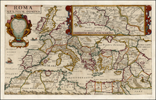 Europe, Italy and Mediterranean Map By Philip Briet