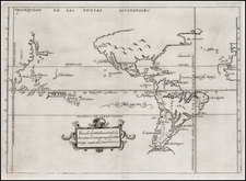 World, Southeast, North America, Baja California, South America, China, Japan, Southeast Asia, Pacific, Oceania, California and America Map By Antonio de Herrera y Tordesillas