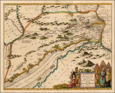 Middle East, Holy Land, Egypt and North Africa Map By Jan Jansson