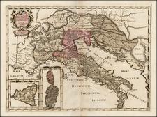 Balkans, Italy, Mediterranean and Balearic Islands Map By Tipografia del Seminario