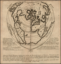World Map By Pierre Moullart Sanson