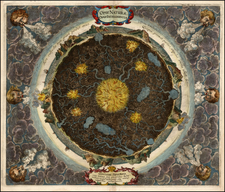 World and Curiosities Map By Athanasius Kircher