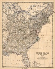 South, Southeast and Midwest Map By W. & A.K. Johnston