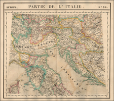 Europe, Balkans, Italy and Balearic Islands Map By Philippe Marie Vandermaelen