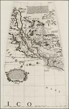 Texas, Southwest, Rocky Mountains, Mexico, Baja California and California Map By Vincenzo Maria Coronelli