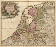 Netherlands Map By Gerard Valk