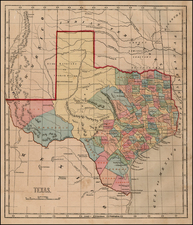 Texas Map By Sidney Morse