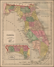 Florida and Southeast Map By Sidney Morse