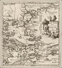 Balkans, Turkey, Turkey & Asia Minor, Balearic Islands and Greece Map By Samuel Bochart