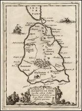 India and Other Islands Map By Samuel Bochart