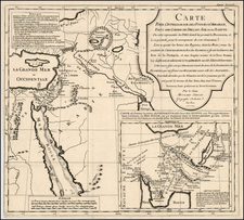 Middle East, Holy Land, Turkey & Asia Minor and North Africa Map By Pierre Moullart Sanson