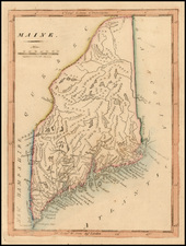 New England Map By Carey  &  Warner