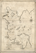 New England, Massachusetts and Boston Map By George Louis Le Rouge