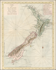 Australia & Oceania and New Zealand Map By James Cook