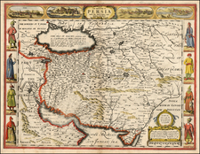 Asia, Central Asia & Caucasus, Middle East and Turkey & Asia Minor Map By John Speed