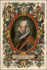 Portraits & People Map By Abraham Ortelius
